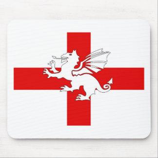 England Flag and Dragon Mouse Mat