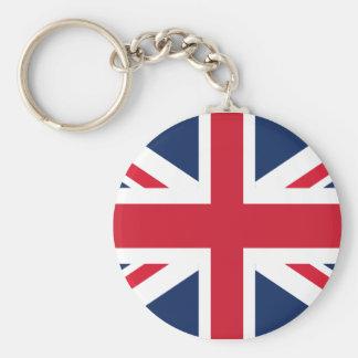England flag basic round button keychain