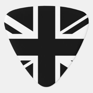 England Flag Black White Guitar Pick