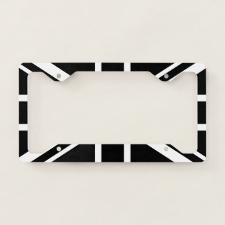 England Flag Black White License Plate Frame