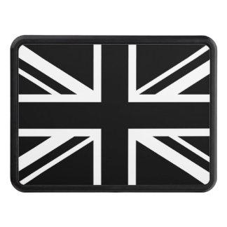 England Flag Black White Trailer Hitch Cover