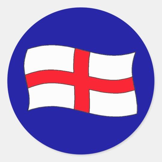 England Flag Classic Round Sticker