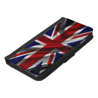 England Flag Fabric iPhone 6/6s Plus Wallet Case