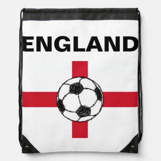 England Flag | Football Ball Drawstring Bag