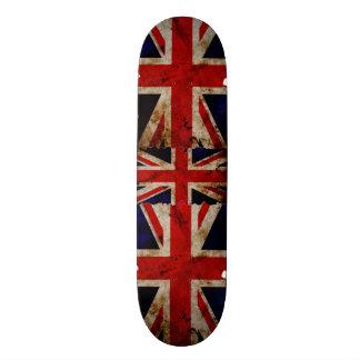 England Flag Grunge Trick Board Skate Deck