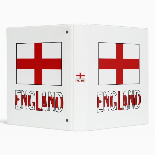 England Flag & Name Binders