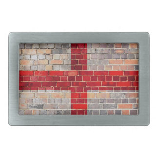 England flag on a brick wall belt buckles