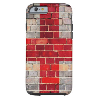 England flag on a brick wall tough iPhone 6 case