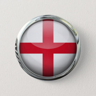 England Flag Round Glass Ball 2 Inch Round Button