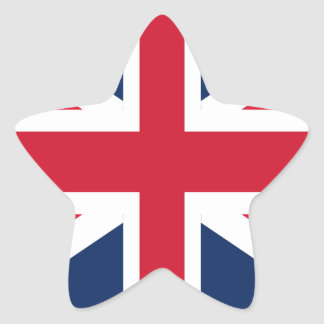 England flag star sticker