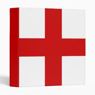 England Flag Vinyl Binder