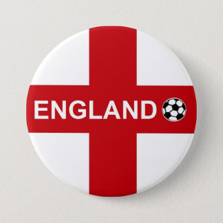 England Football 3 Inch Round Button