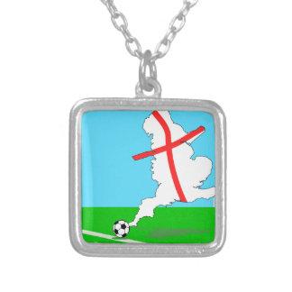 England Football England Kicks For Goal! Silver Plated Necklace