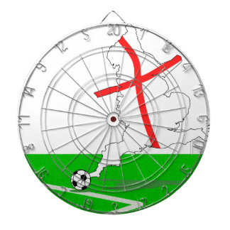 ENGLAND Football Team White Background Dart Board