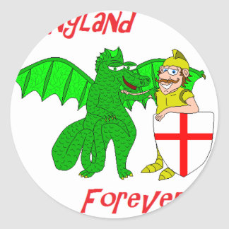 England Forever Classic Round Sticker