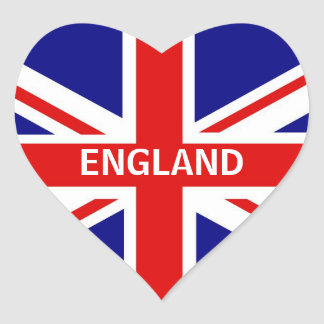 England Heart Sticker