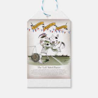 england left wing footballer gift tags