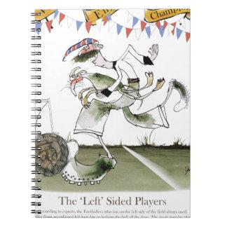 england left wing footballer notebooks