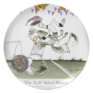 england left wing footballer plate