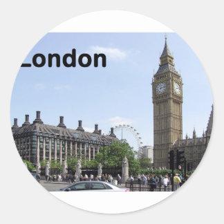England London Big Ben (St.K) Classic Round Sticker