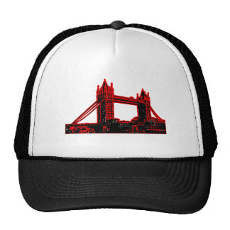 England London Bridge Red Black3 jGibne The MUSEUM Trucker Hat