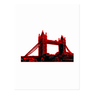 England London Bridge Red Black 3 The MUSEUM Zazzl Postcard