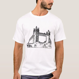 England London Bridge White Black The MUSEUM Zazzl T-Shirt