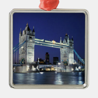 England, London, Tower Bridge 3 Metal Ornament