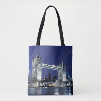 England, London, Tower Bridge 3 Tote Bag