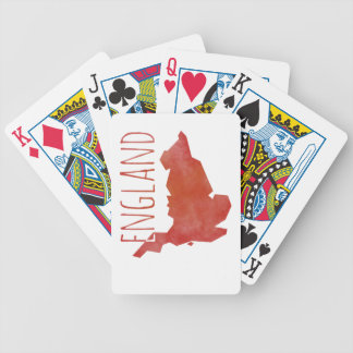 England Map Bicycle Playing Cards