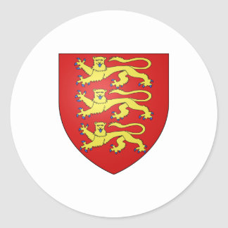 England Official Coat Of Arms Heraldry Symbol Classic Round Sticker