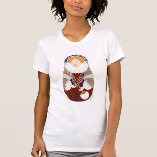 England Queen Elizabeth Matryoshka Women's T-Shirt