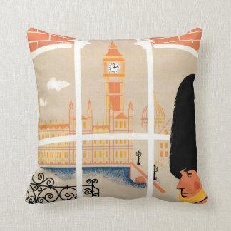 England retro travel pillow