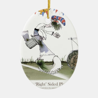 england right wing footballer ceramic ornament
