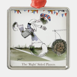 england right wing footballer metal ornament
