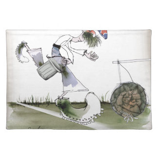england right wing footballer placemat