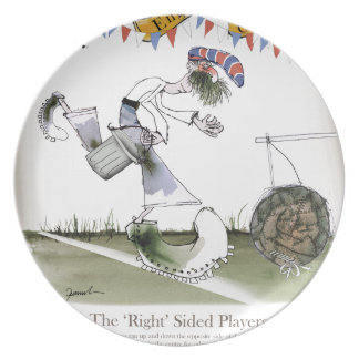 england right wing footballer plate