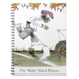 england right wing footballer spiral notebook