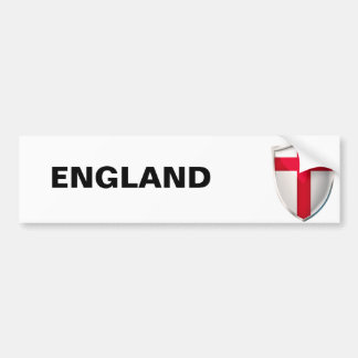 England Shield Bumper Sticker