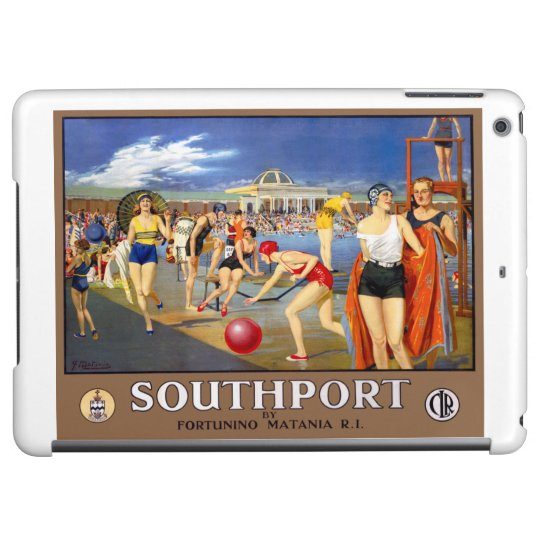 England Southport Restored Vintage Travel Poster Cover For iPad Air
