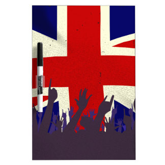 England State Flag with Audience Dry-Erase Whiteboards