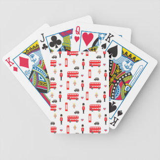 England Symbols Pattern Bicycle Playing Cards