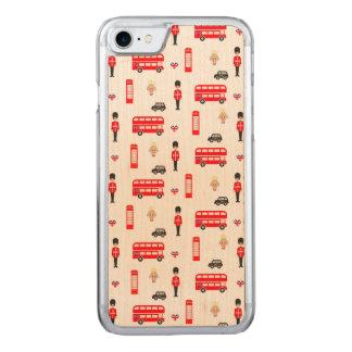 England Symbols Pattern Carved iPhone 7 Case