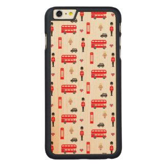 England Symbols Pattern Carved Maple iPhone 6 Plus Case