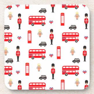 England Symbols Pattern Coaster