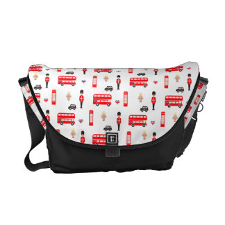 England Symbols Pattern Courier Bags