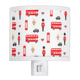 England Symbols Pattern Nite Lights