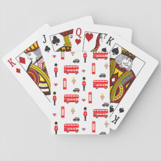 England Symbols Pattern Playing Cards