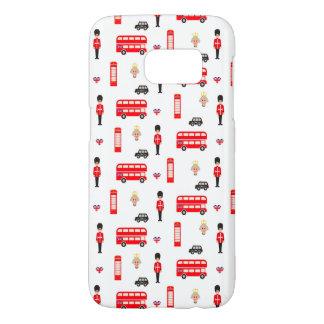 England Symbols Pattern Samsung Galaxy S7 Case