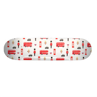 England Symbols Pattern Skate Board Decks